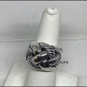 David Yurman Wide Woven Sterling Silver Ring